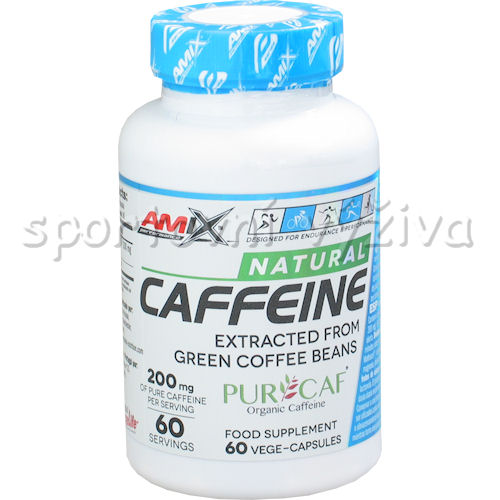 Caffeine Natural 200mg 60 kapslí