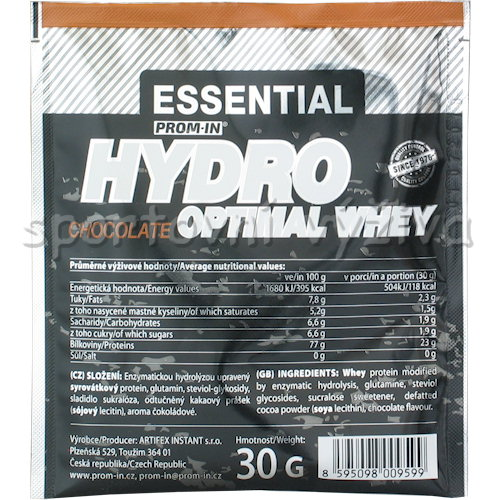 Essential Optimal Hydro Whey - 30g-cokolada