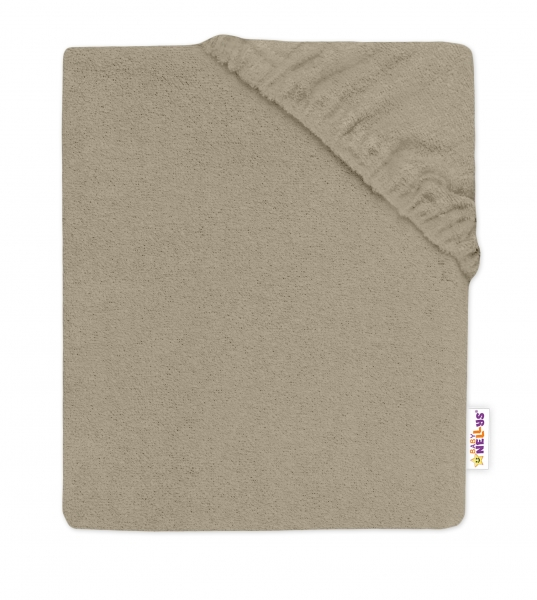baby-nellys-detske-frote-prosteradlo-do-postylky-cappuccino-140x70cm-140x70