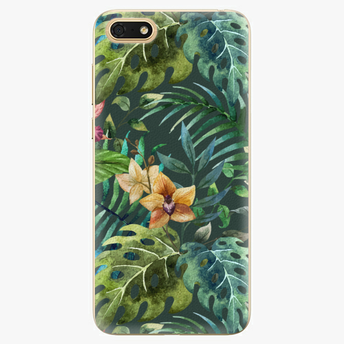 Silikonové pouzdro iSaprio - Tropical Green 02 - Huawei Honor 7S