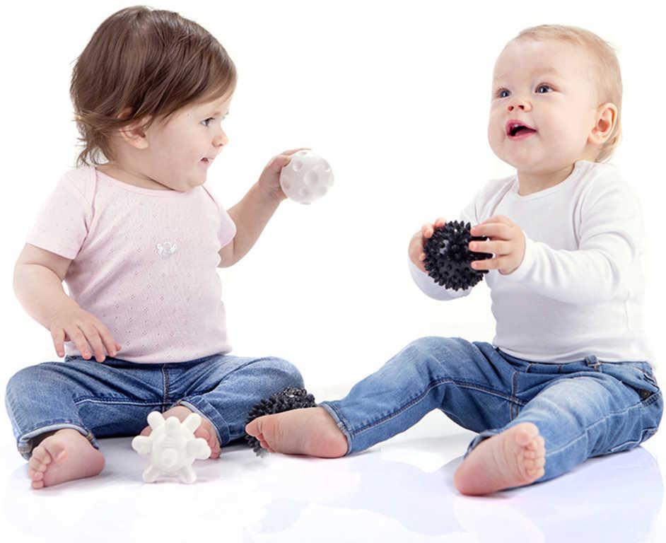TULLO Baby balónky gumové stimulační černobílé set 4ks pro miminko