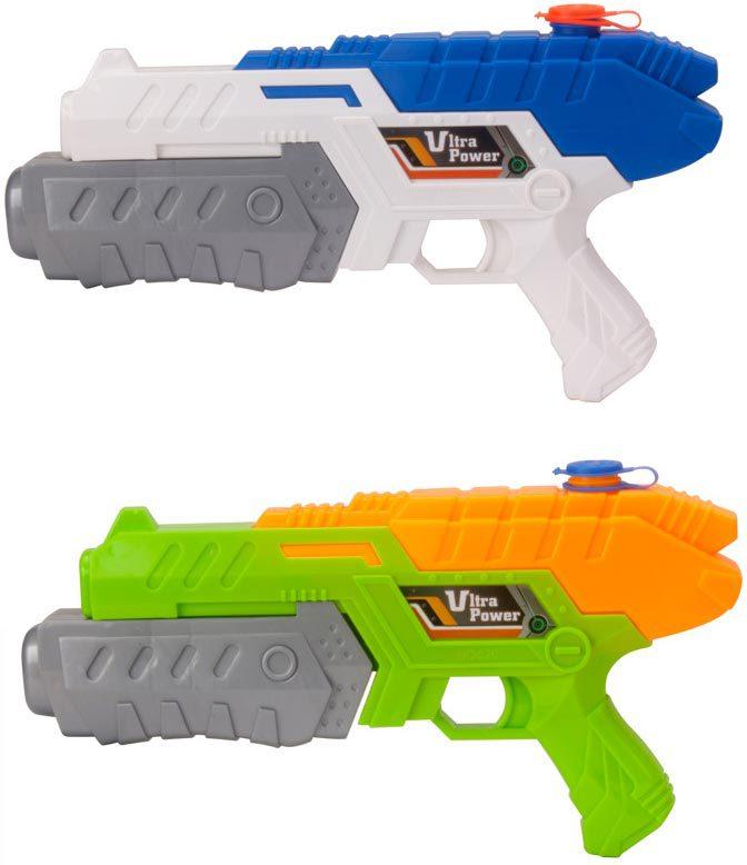 Pistole vodní stříkací 30cm se zásobníkem na vodu různé barvy