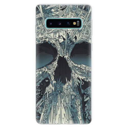 Silikonové pouzdro iSaprio - Abstract Skull - Samsung Galaxy S10
