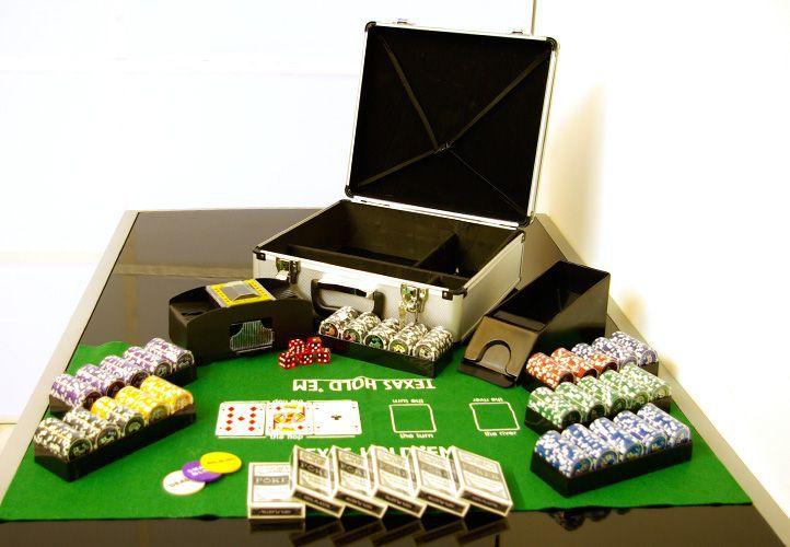 Poker set 600 ks žetonů OCEAN s příslušenstvím