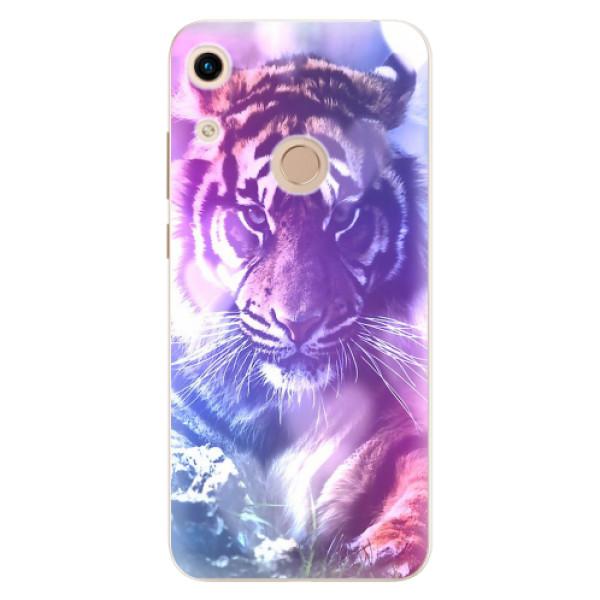 Odolné silikonové pouzdro iSaprio - Purple Tiger - Huawei Honor 8A