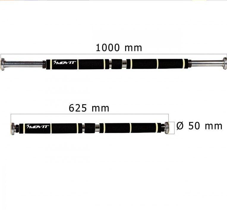 MOVIT® posilovací hrazda, chrom/bílá, polstrování