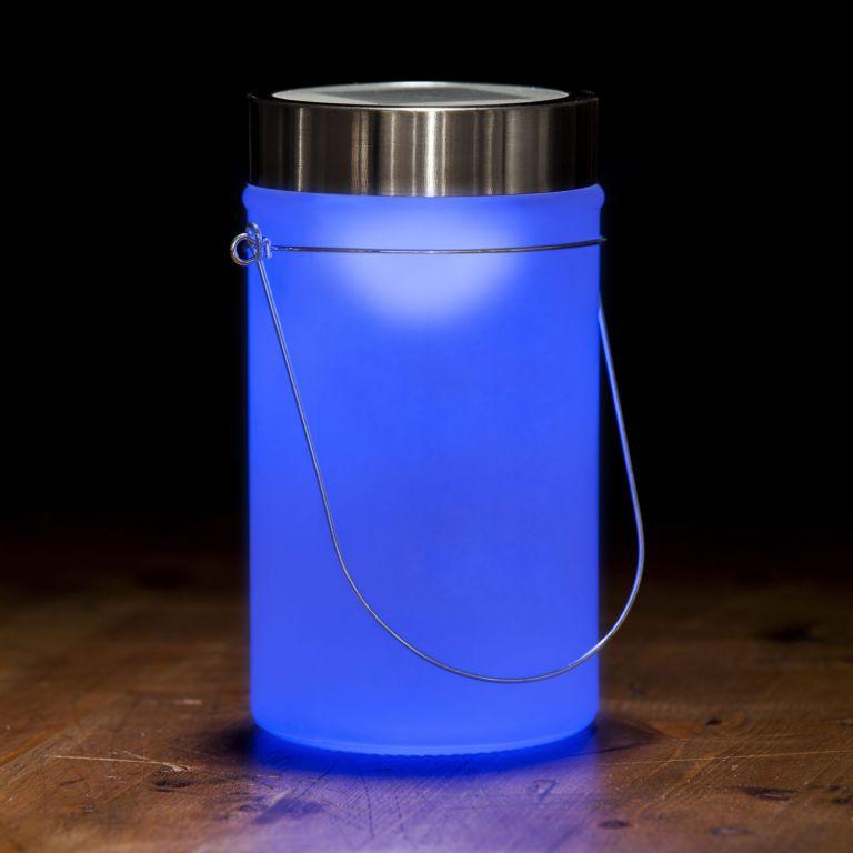 Solární lampa, modrá