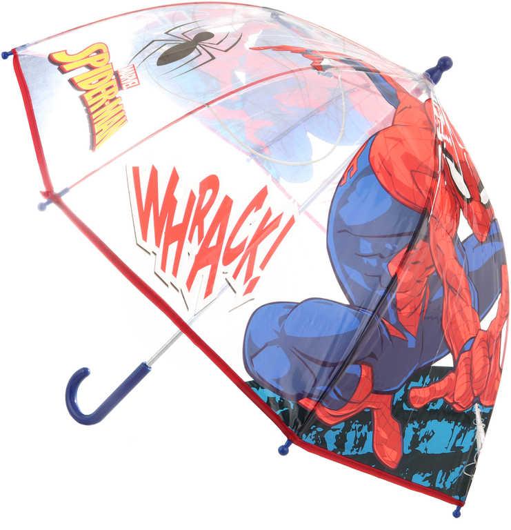 Deštník dětský Spiderman 72x72x64cm průhledný manuální