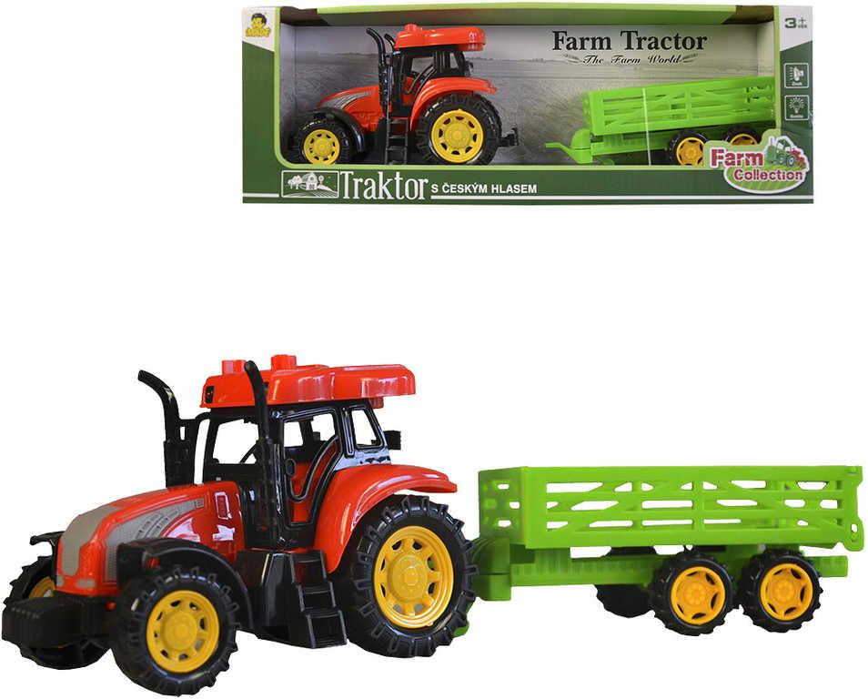 Traktor plastový farmářský set s přívěsem na baterie CZ