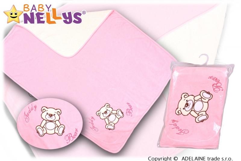 baby-nellys-deka-decka-frote-velur-medvidek-teddy-bear-sv-ruzova