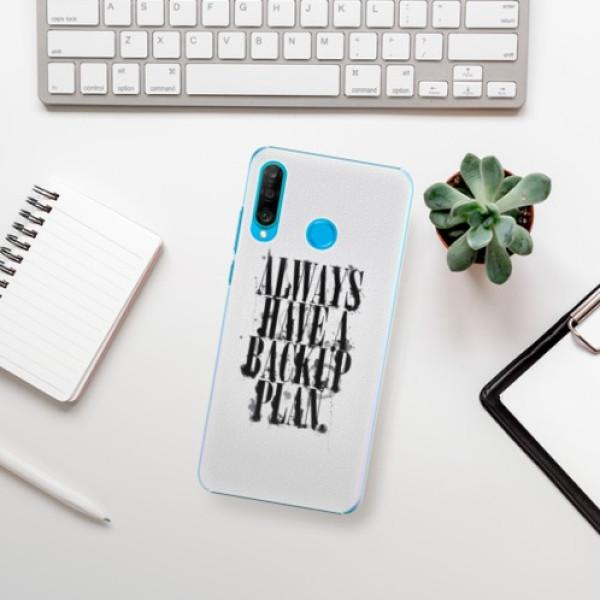 Plastové pouzdro iSaprio - Backup Plan - Huawei P30 Lite