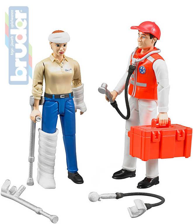 BRUDER 62710 Set zdravotnický záchranář 2 figurky s doplňky 1:16 plast