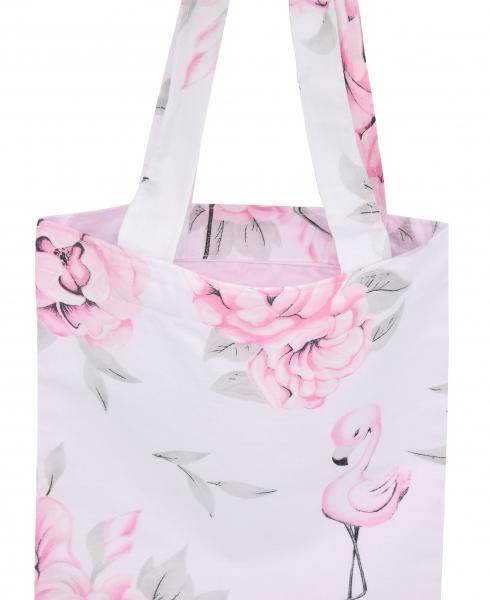 Bavlněná taška Baby Nellys Maxi pro mámy - Plameňák růžový