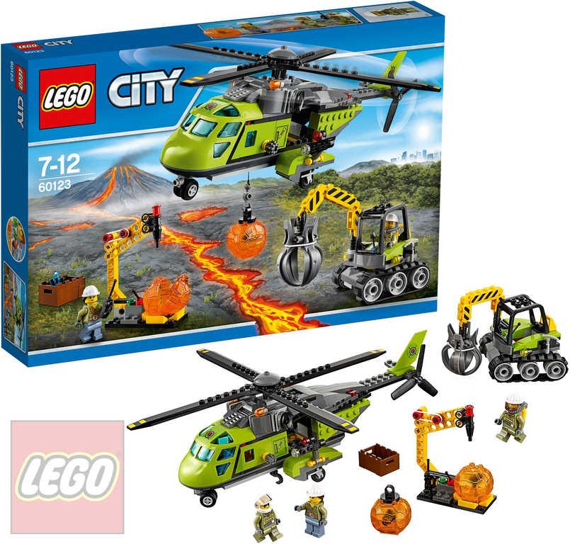LEGO CITY Sopečná helikoptéra 60123 STAVEBNICE