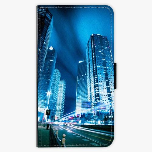 Flipové pouzdro iSaprio - Night City Blue - Samsung Galaxy A3