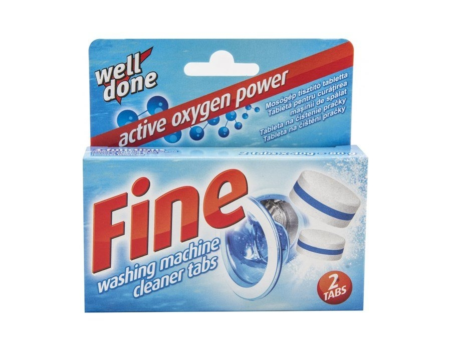Fine tablety na čištění pračky 2 x 40 g