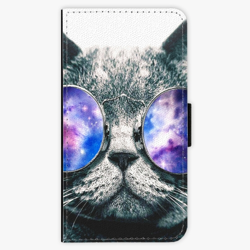 Flipové pouzdro iSaprio - Galaxy Cat - iPhone X