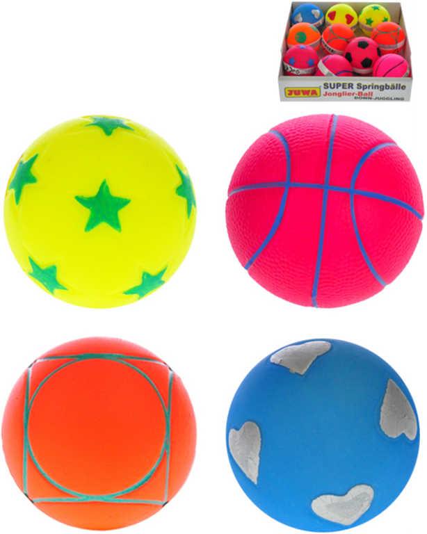 Míček žonglovací 6,5cm různé druhy 4 barvy