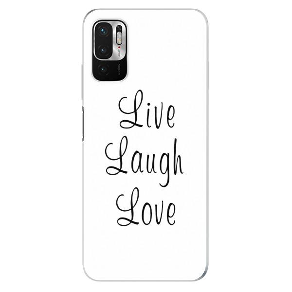 Odolné silikonové pouzdro iSaprio - Live Laugh Love - Xiaomi Redmi Note 10 5G