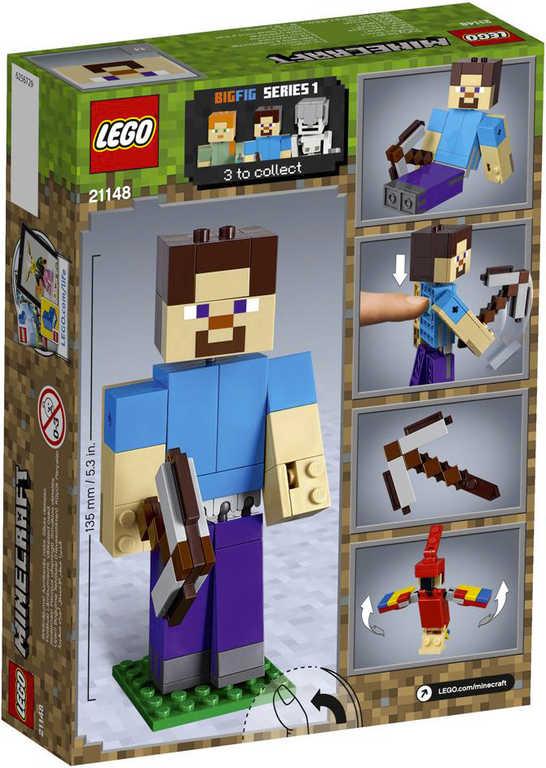 LEGO MINECRAFT Velká figurka: Steve s papouškem 21148
