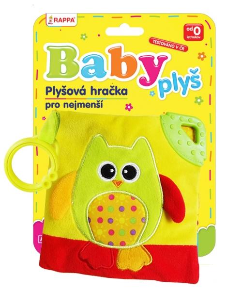 Kniha plyšová baby sova s klipem
