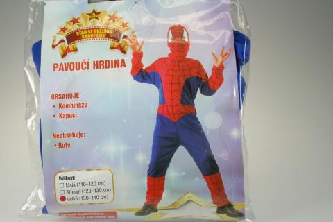 Šaty Pavoučí hrdina 130 - 140 cm
