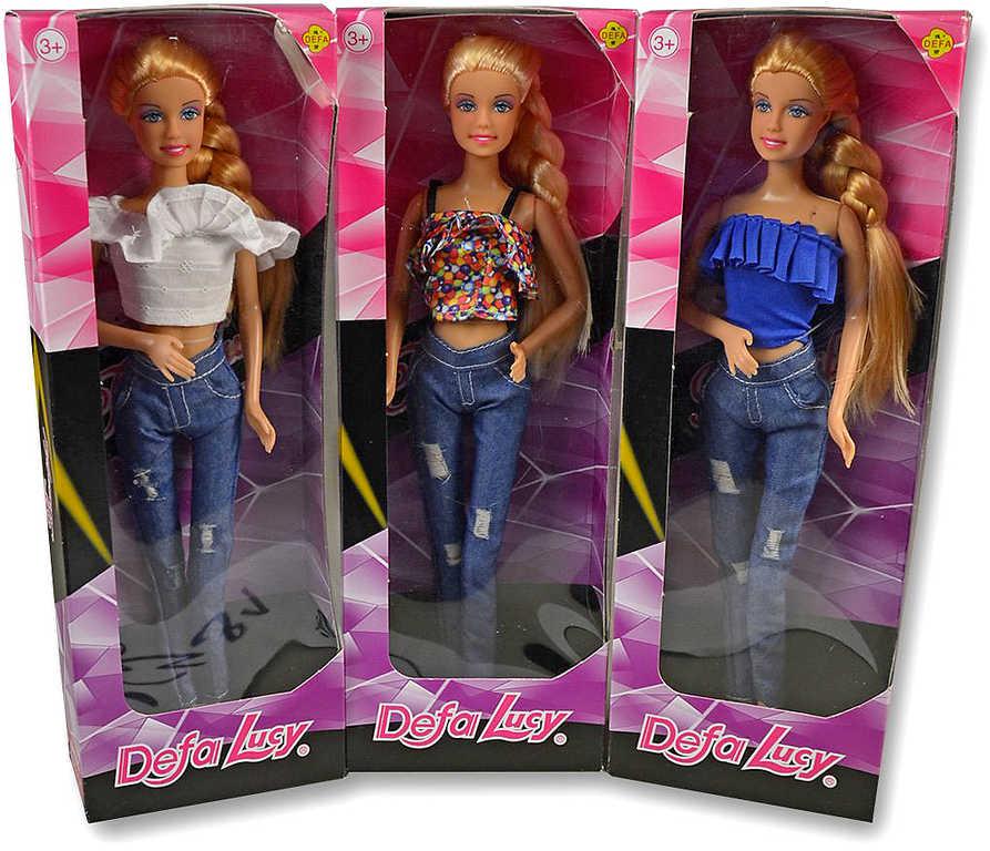 Panenka Defa Lucy trendy v džínách a triku 3 druhy v krabičce