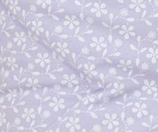 Krásný volánek pod matraci - Květinky fialové - 120x60