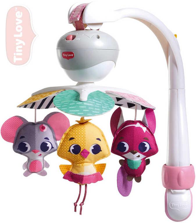 TINY LOVE Baby kolotoč hudební na cesty se 3 zvířátky na baterie Zvuk pro miminko