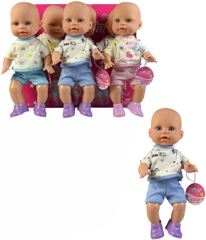 Defa panenka miminko v oblečku 26cm 3 druhy