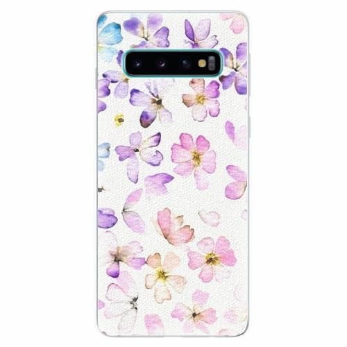 Silikonové pouzdro iSaprio - Wildflowers - Samsung Galaxy S10