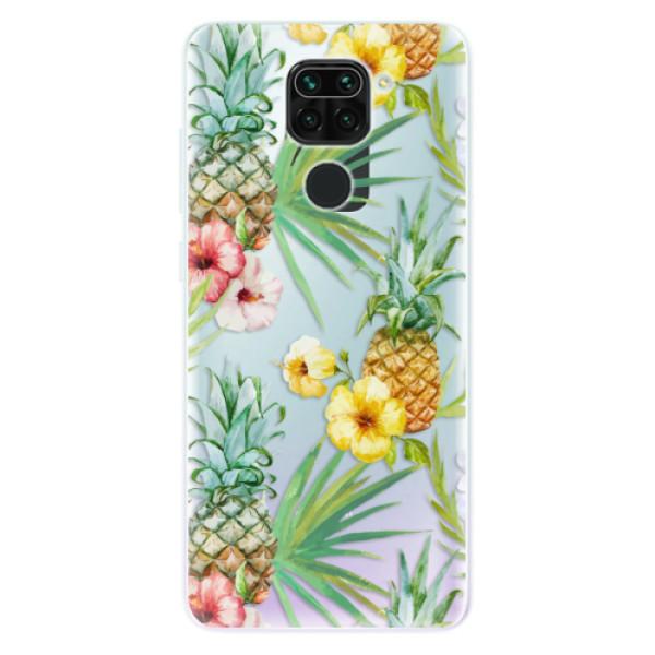 Odolné silikonové pouzdro iSaprio - Pineapple Pattern 02 - Xiaomi Redmi Note 9