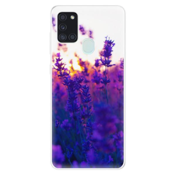 Odolné silikonové pouzdro iSaprio - Lavender Field - Samsung Galaxy A21s