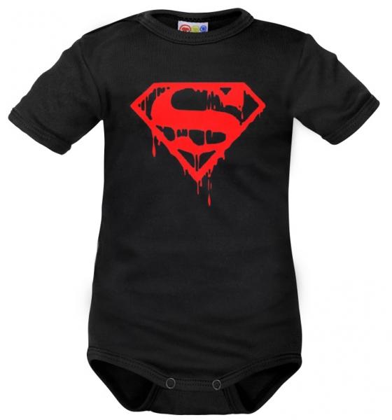 body-kratky-rukav-dejna-super-baby-cerne-62-2-3m