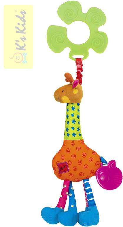 K´S KIDS Žirafa IGOR s úchytem na kočárek