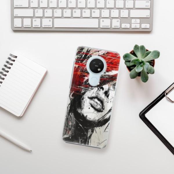 Plastové pouzdro iSaprio - Sketch Face - Nokia 7.2