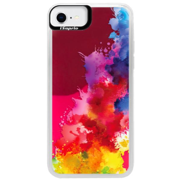 Neonové pouzdro Pink iSaprio - Color Splash 01 - iPhone SE 2020