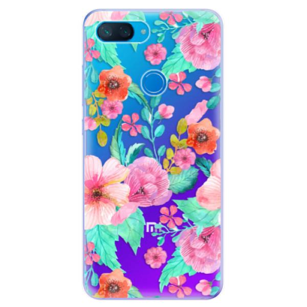 Odolné silikonové pouzdro iSaprio - Flower Pattern 01 - Xiaomi Mi 8 Lite