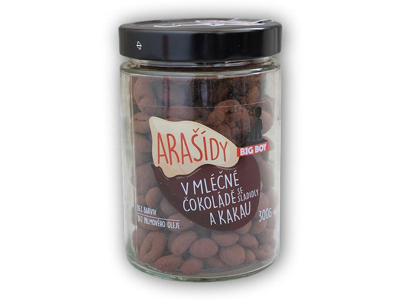 Arašídy v <b>mléčné</b> čokoládě a kakau 300g