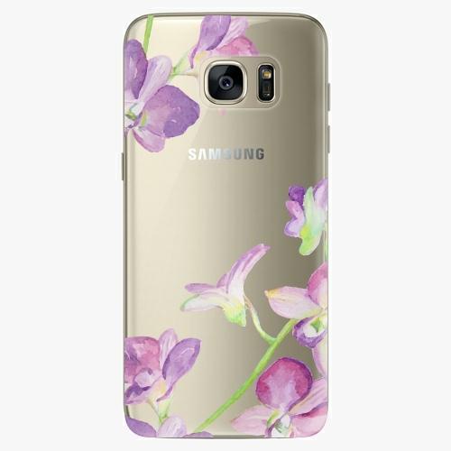 Plastový kryt iSaprio - Purple Orchid - Samsung Galaxy S7 Edge