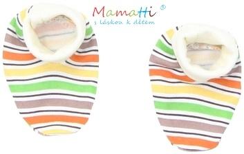 Botičky/ponožtičky BAVLNA Mamatti - CAR - barevné proužky