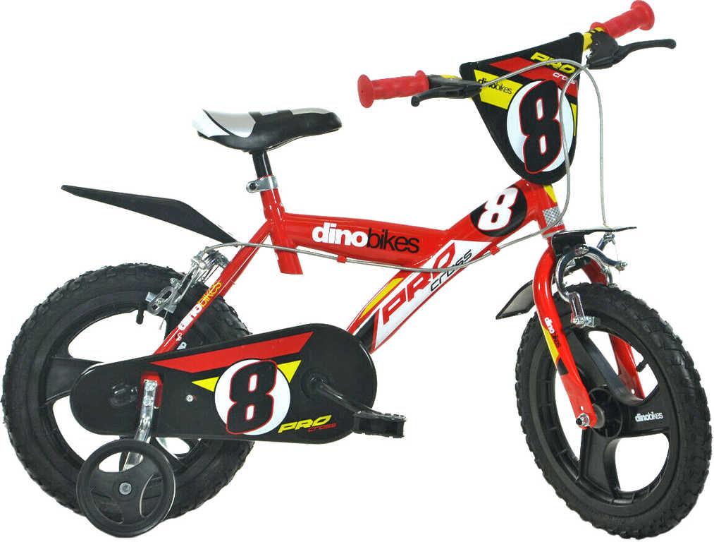 ACRA Dětské kolo Dino Bikes 163GLN červené chlapecké 16