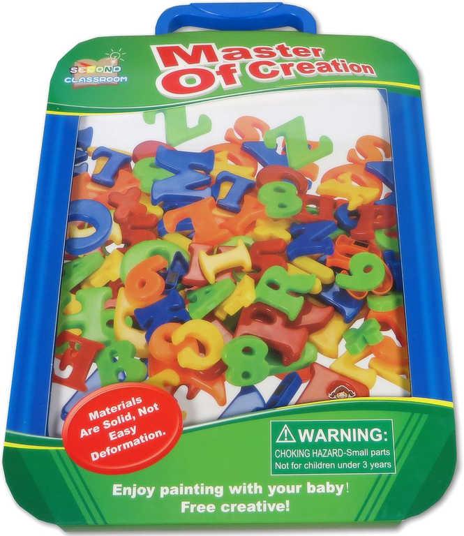 Čísla magnetická kreativní set s tabulkou a fixou plast