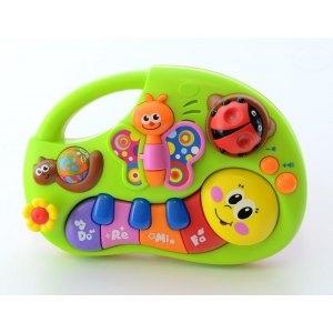 Euro Baby Interaktivní hračka s melodii pianko - HRAJÍCÍ HOUSENKA