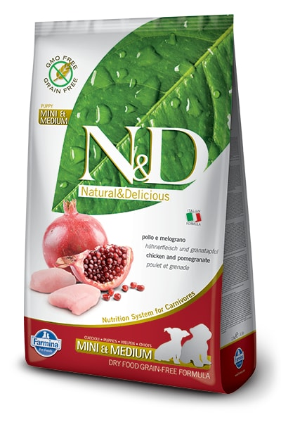 N&D GF DOG Puppy S/M Chicken & Pomegranate 800g