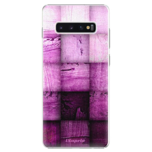 Plastové pouzdro iSaprio - Purple Squares - Samsung Galaxy S10+