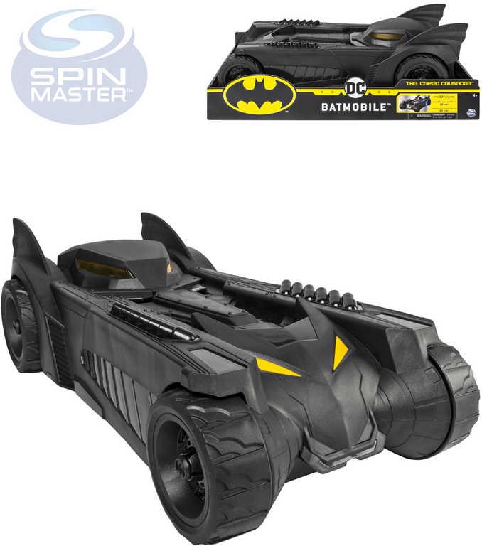 SPIN MASTER Batman auto černé batmobile pro 30cm figurky plast