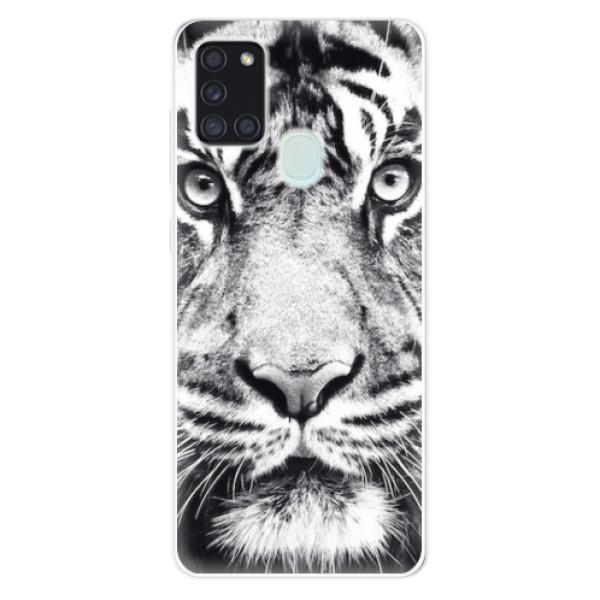 Odolné silikonové pouzdro iSaprio - Tiger Face - Samsung Galaxy A21s