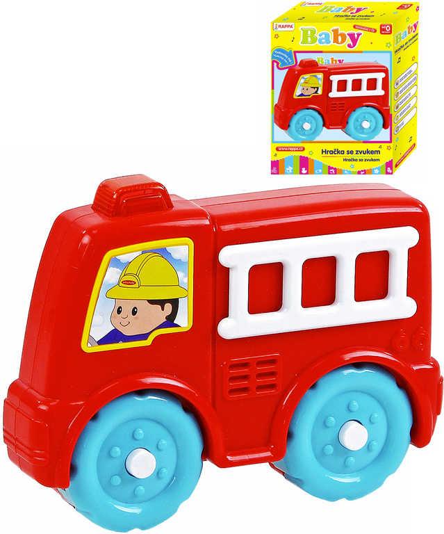 Baby autíčko požární plastové na baterie pro miminko hasiči
