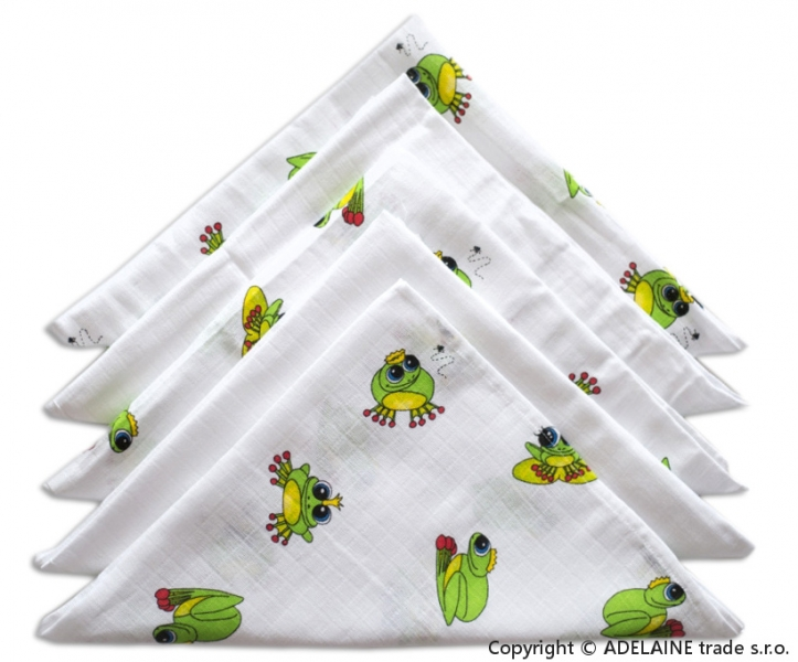 Kvalitní dětské pleny 70x70 cm - Žabí princ mix